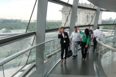 20. Juni 2019: Die Delegation aus Dêrik in der Kuppel des Reichstagsgebäudes