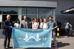 Empfang der Delegation aus Dêrik am Flughafen Berlin