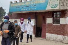 Stadtverwaltung in Dêrik, gemeinsamer Einsatz gegen die Corona-Pandemie