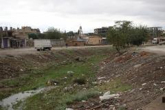 Das Flussbett vor Beginn der Aufräumarbeiten